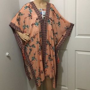 Xhilaration Women's Floral Opened Front Dress.
